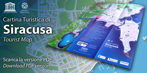 Mappa cartina turistica Siracusa e Proviincia