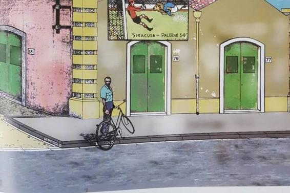 Chiaramonte con illustrazione in via Piave.