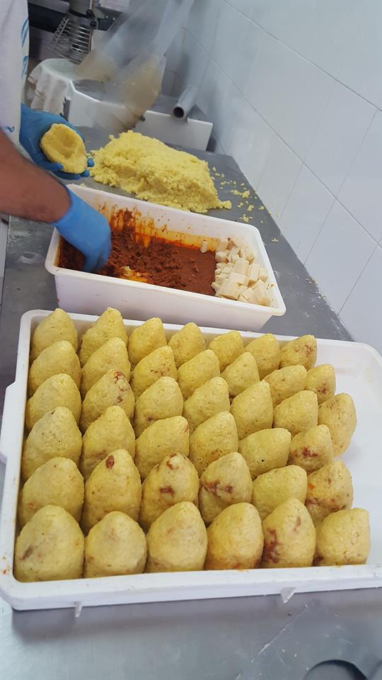 preparazione arancino