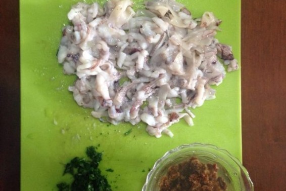 Foto ingredienti calamari ripieni (Ph. Crtistina Silvestro)