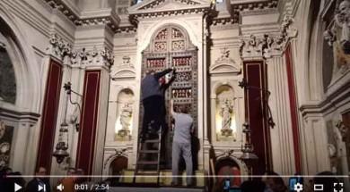 Apertura nicchia Santa Lucia Siracusa